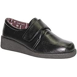 Zapato velcro pies muy delicado Doctor Cutillas en negro talla 41