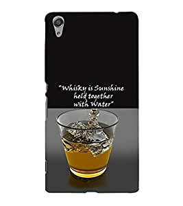 PrintVisa Quotes & Messages Whisky Sunshine 3D Hard Polycarbonate Designer Back Case Cover for Sony Xperia C6