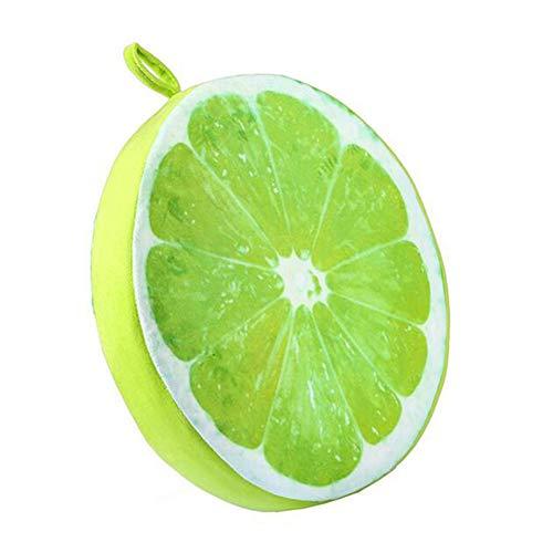 Maoran Kissen Kissenbezüge Kissenbezug Fenster Pad Stuhl Sofa Matte Obst Wassermelone Orange Bettwäsche Plüsch Spielzeug Nette Runde 33 cm - Bettwäsche-sofa-stuhl