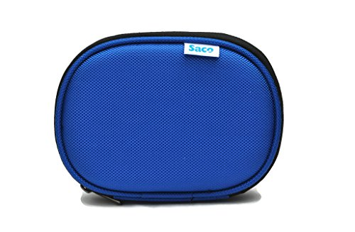 Saco Shock Proof External Hard Disk Case for Seagate Expansion 500GB Portable External Hard Drive - Blue