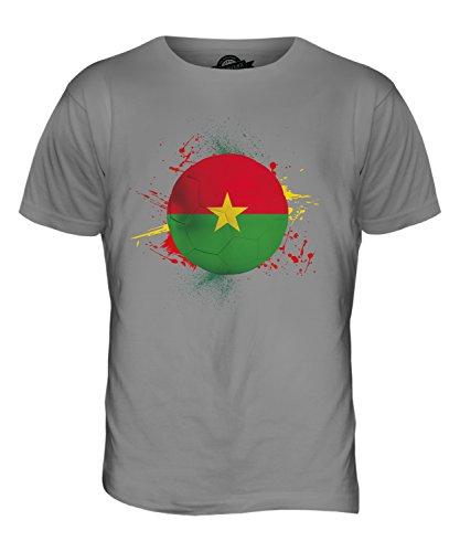 CandyMix Burkina Faso Fußball Herren T Shirt Hellgrau