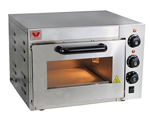 Beeketal \'BPO35-1\' Profi Pizzaofen mit 355x340 mm Schamottstein Backfläche und extra hoher Kammer, Gastro Steinbackofen für Pizza, Brot und Backwaren, Pizzabackofen Temperatur bis zu 350°C