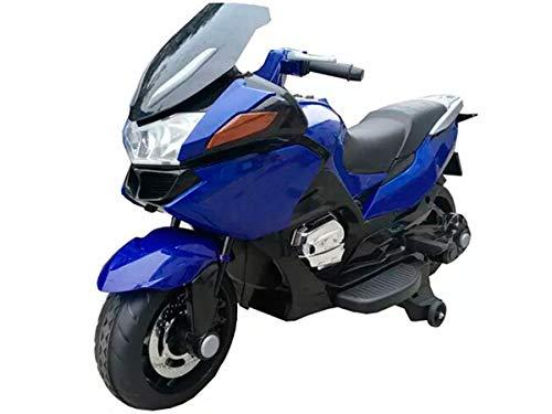 Babycoches Moto eléctrica para niños de 12v, Estilo BMW R 1200RT, ruedines Desmontables, neumaticos Caucho, Asiento Polipiel, Equipo Audio, 12...