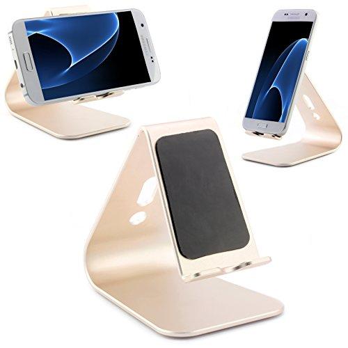 Preisvergleich Produktbild Universal Aluminium Smartphone Handy Tablet Ständer Alu Handy Halter Samsung, Nokia , Apple, HTC und viel mehr … ScorpioCover Variante 2 gold