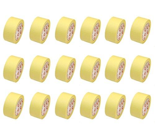 18 Rollen Flachkrepp Abklebeband Malerkrepp Malerband 50mm x 50m bis 60°C (EUR 0,04 / m)