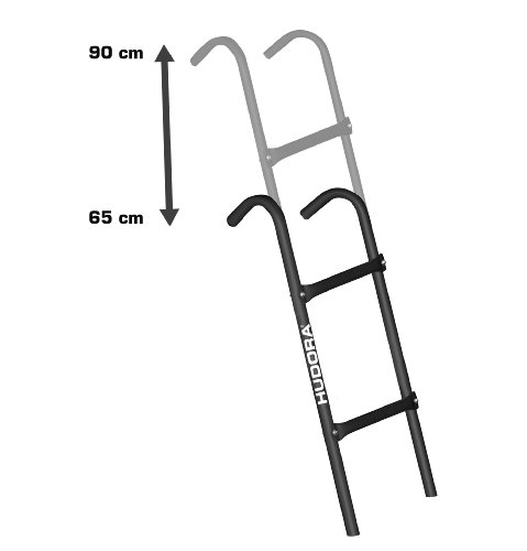 HUDORA - Zubehör-Leiter für Trampoline Gartentrampolin Rahmenhöhe von 65 cm bis 90