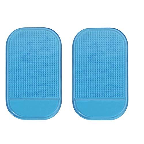 Colorful KFZ Halterung Anti Rutsch Matte, Antirutschmatte Klebematte, Anti-Rutsch Pad,Anti Slip Pad, Auto Non-Slip Matte für Handyhalterung, Mobiltelefone, Sonnenbrillen und Schlüssel (2pcs Blau)