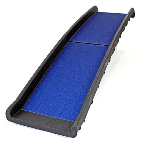 Pet Ramp für Hunde in Kunststoff, Falten leicht und stark (schwarz oder blau) (blau)