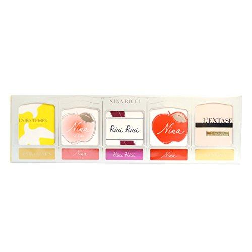 Set Nina Ricci Miniature Set 5 x 4ml - L'Air du Temps EDT / L'Eau Eau Fraiche EDT / Ricci Ricci EDP / Nina EDT / L'Extase EDP