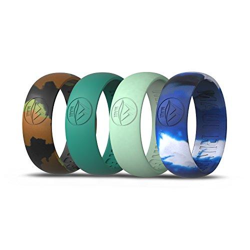 MAUI RINGS Silikon-Hochzeitsring für Herren Ehering und Hochzeit Ring Verlobungsringe für Männer Ehering Herren Ring Gummibänder Gummi Ring Herren Ringe