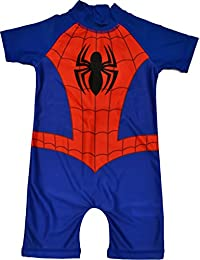 Boys Spiderman All in One Swimuit Sunsafe Sunsuit Ages 18 Months to 5 Years