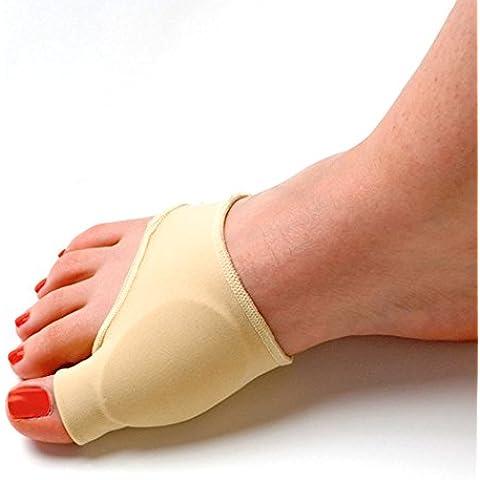 Gel Tinksky elástica plisadas Protector juanete adultas manga Toe esparcidor Pad