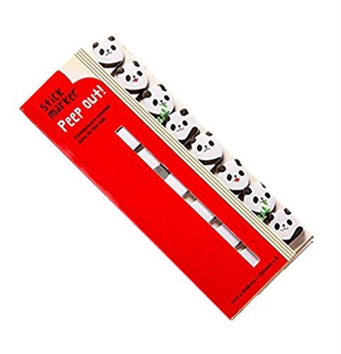 Toruiwa 1X Marcadores Adhesivos Notas Autoadhesivas de Papel Pequeñas Notas Adhesivas del Oso de bambú 12.5*5cm