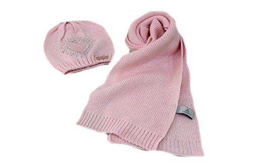 Sciarpa e cappello bambina Lancetti junior x9520 rosa moda italiana