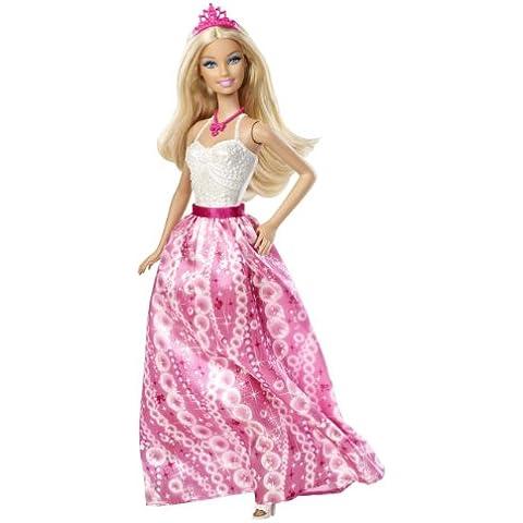 Mattel X9439 - Muñeca Barbie, diseño de princesa de fiesta, color blanco y rosa