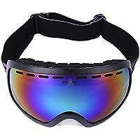 Shuzhen,Protección UV Unisex Lente a Prueba de Viento Snowboard Esquí Gafas Gafas(Color:Negro)