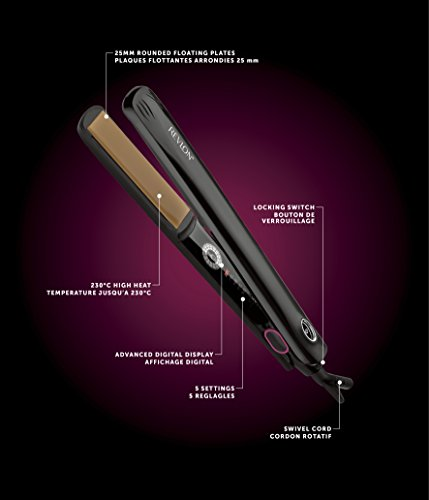 Revlon salón one-pass Digital Styler alisador de cabello Pro Collection