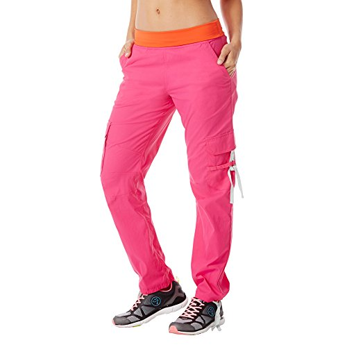 Zumba Fitness Damen WB Craveworthy Cargo Pants, Back To The Fuchsia, XS, Z1B00272-BKTF - Tanz-womens Rosa T-shirt