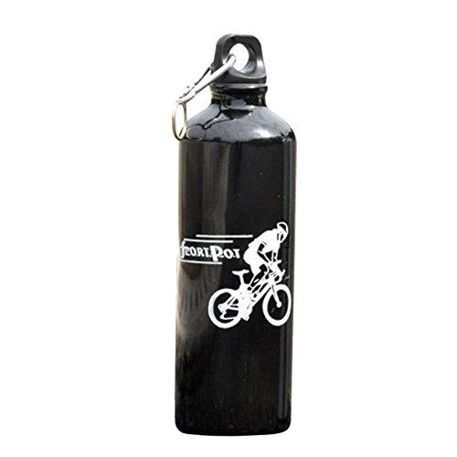 Vélo Bouilloire Vélo Équitation Sports en Plein Air Bouteille d'eau Bicyclette Alliage D'aluminium Bouilloire avec Mousqueton 750ML