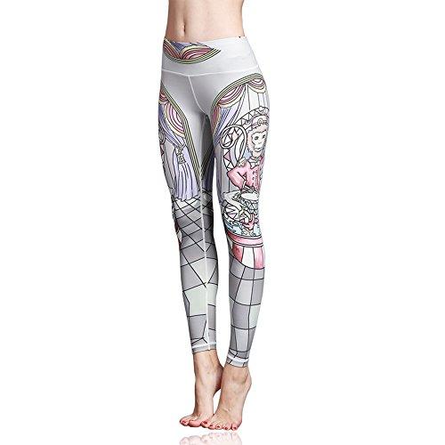 Doris Boutique FU - Hochwertige Mode gedruckte Yoga Workout Stretch Leggings Patterned Hosen (M, HK63)