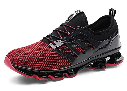Hommes Chaussures de Sport Basket Running Compétition Training Fitness Tennis Athlétique Sneakers, Red-txtk06, 41 EU