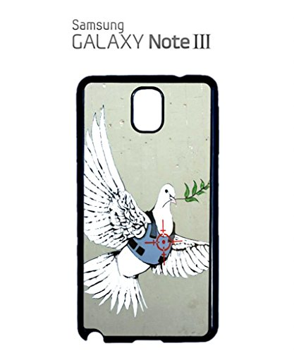 Banksy Peace War Bird Peagon Target Cell Phone Case Samsung Note 3 Black Blanc