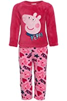 Girls PEPPA PIG Pyjamas Pink 100% Coral Fleece Official PJs Cartoon Novelty Xmas PJs