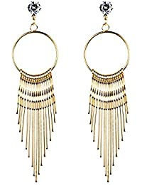Damen Ohrringe Schmuck Ohrstecker Stecker DAY.LIN Neue Mode Frauen baumeln  Quaste Ohrring Kristall Ohrringe 2562c4ae46