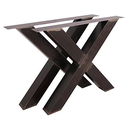 1 PAAR Tischgestell X Form BestLoft transparent Tischbeine Tischkufen Tischfüße Kufengestell (Höhe:72cm x Breite:85cm)