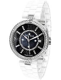 Stella Maris Damen-Armbanduhr Analog Quarz Premium Keramik Diamanten - STM15SM1