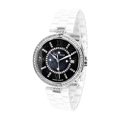 Stella Maris STM15SM1 - Orologio da polso analogico al Quarzo Donna - Cinturino Ceramica Premium Quadrante madreperla Diamanti e elementi Swarovski