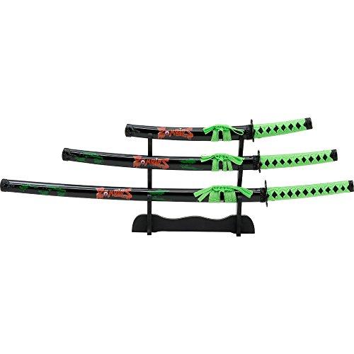Samuraischwertgarnitur Zombie Dear 3 tlg., Samuraigarnitur Zombie Dead (Zombie-werkzeuge-schwerter)