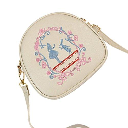 BZLine® Frauen Crossbody Umhängetasche Tasche Handtasche kleinen Körper Taschen, 18cm*7cm*17cm Beige