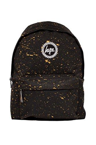 Hype Mochila Bolsas Mochila Mochila Escolar, | | más de 40variedades | nuevos estilos constantemente añadido | Premium Speckle & impreso negro negro/dorado 42