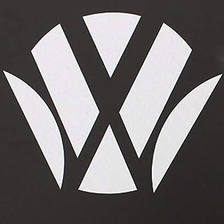 Finest Folia 045 Emblem Ecken Inlays Folie Aufkleber passgenau (Carbon Weiß)