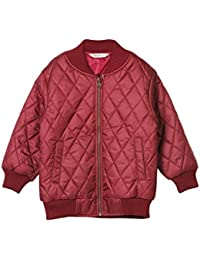Beebay Boys Cross Stitch Quilted Jacket (Maroon)