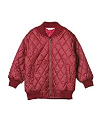 Beebay Boys 100% Polyester Cross Stitch Quilted Jacket (Maroon,11-12 Years)