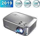 Proyector4500 Lúmenes Excelvan Proyector de Video Portátil Resolución 1280*768P Soporte 1080P Full HD LCD Contraste 1000:1 1080P/USB/VGA/SD/HDMI para Viajes y casa Compatible con PS4 TV Box Mobile PC