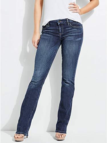 Guess Women's Tailored Mini Boot Jean, Blue Waltz Dark Wash, 25 RG (Guess Jeans Boot)