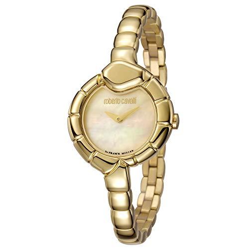 Montre Femme Roberto Cavalli by Franck Muller rv1l010m0011Acier Gold doré