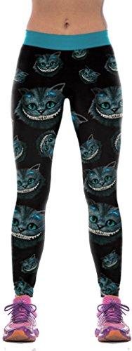 Belsen, Damen-Leggings mit Halloween-Muster Gr. M, Großkatze