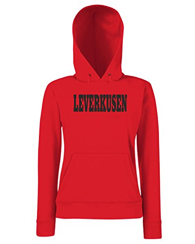 T-Shirtshock - Sweats a capuche Femme WC0804 LEVERKUSEN GERMANY CITY Rouge