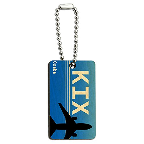 osaka-japon-kansai-intl-kix-aeroport-code-en-bois-rectangle-cle-chaine