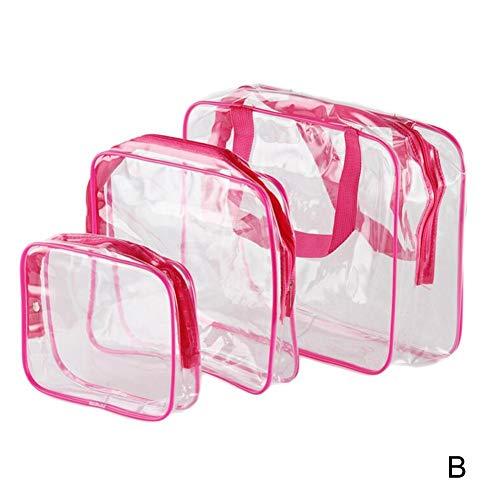 chte Transparente PVC Bad Kosmetiktasche Frauen Make-Up Veranstalter Fall Reisewäsche Reißverschluss Makeup Beauty Körperpflegeprodukte Storage Kit ()