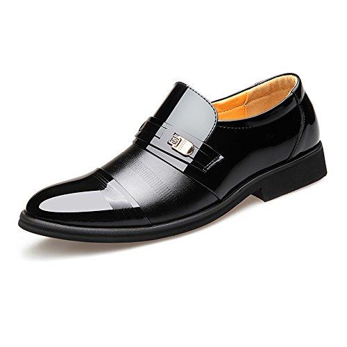 Z.L.F Smoking da Uomo per Uomo Fashion Dress Shoes Smooth PU Leather Slip-on Scarpe Oxford con Fodera Traspirante (Color : Nero, Dimensione : 8MUS)
