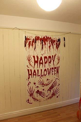 Blutiges Happy Halloween Tür-Poster, Halloween-Party, für Wände