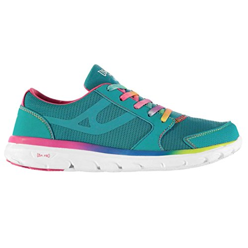 Usa Pro Lazulite Enfant Filles Chaussures Baskets Lacets Sneakers Sport Running Bleu/Multi