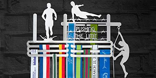 """Medaillenaufhänger, zum Ausstellen Ihre Auszeichnungen, mit englischem Text """"Push The Limit"""", aus Edelstahl - Race-medaille Aufhänger"""