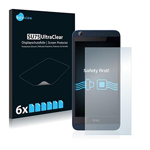 Savvies Schutzfolie kompatibel mit HTC Desire 626G Dual (6 Stück) - ultraklare Bildschirmschutz-Folie