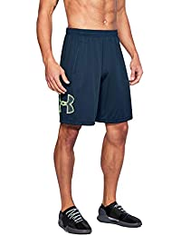 Under Armour Men's Tech Graphic Shorts, Academy (408)/Quirky Lime, XX-Large
